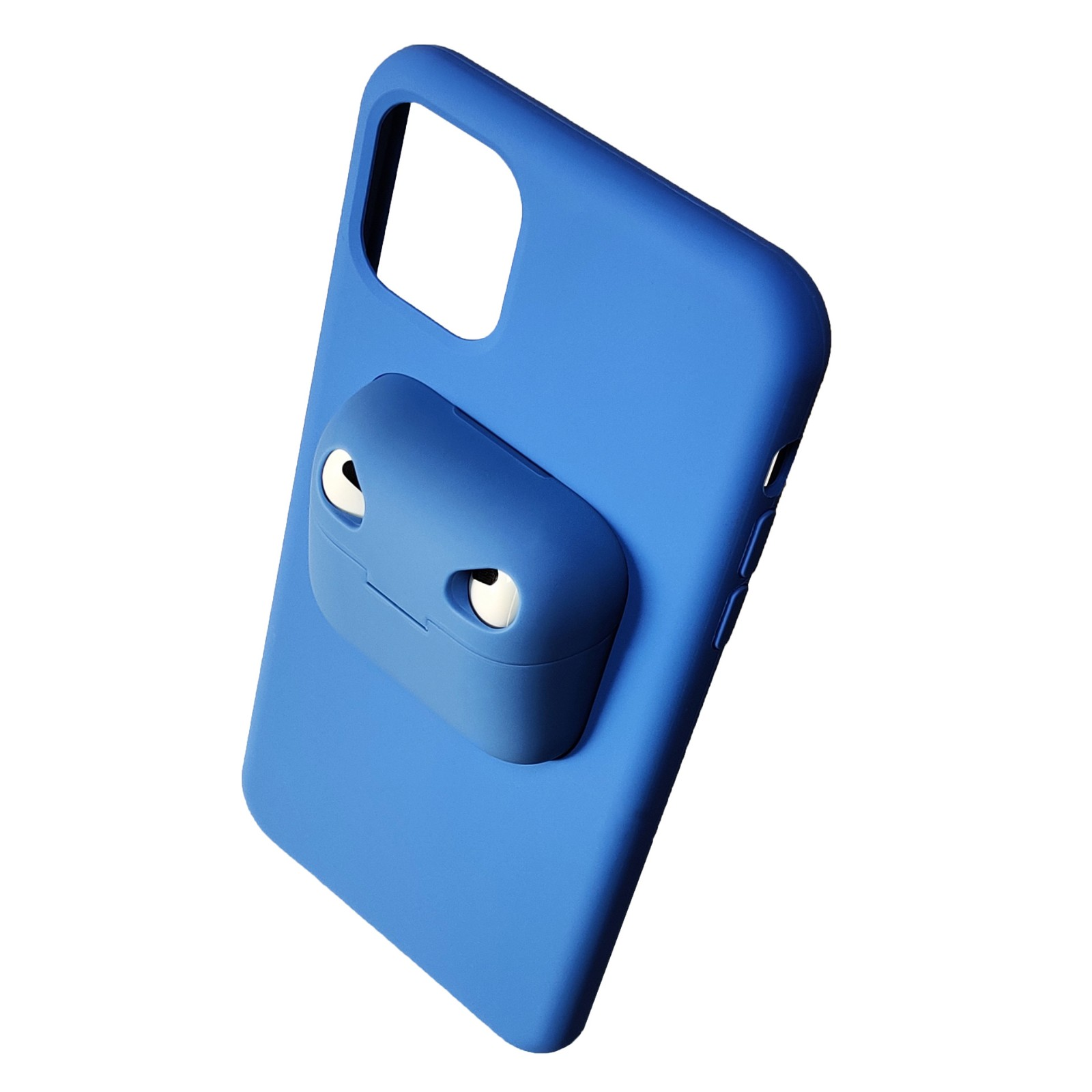 video-TENCHEN iPhone 12 Airpods Case Holder Slim Durable 2 in 1 Cover Designed for iPhone Protects -4