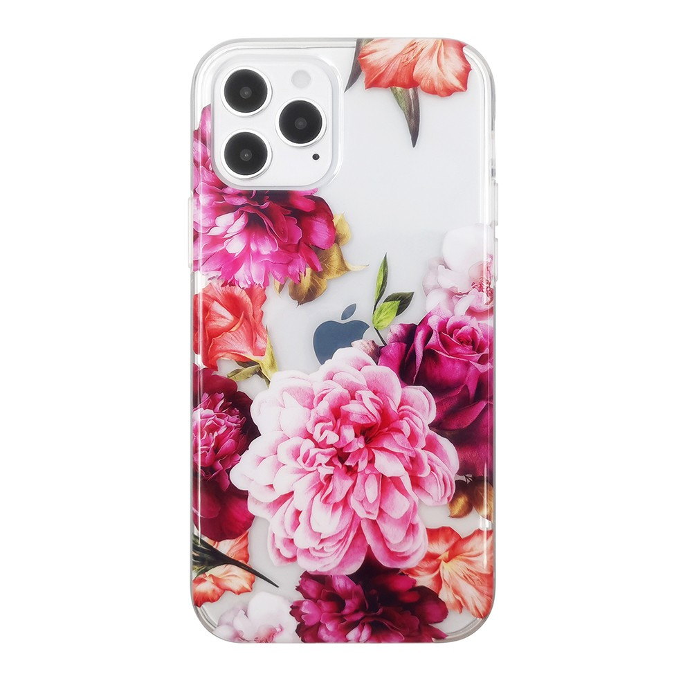 video-Pattern Clear Designed for iPhone 12 Case,Clear Case with Design,TPU Bumper with Protective Ha-1