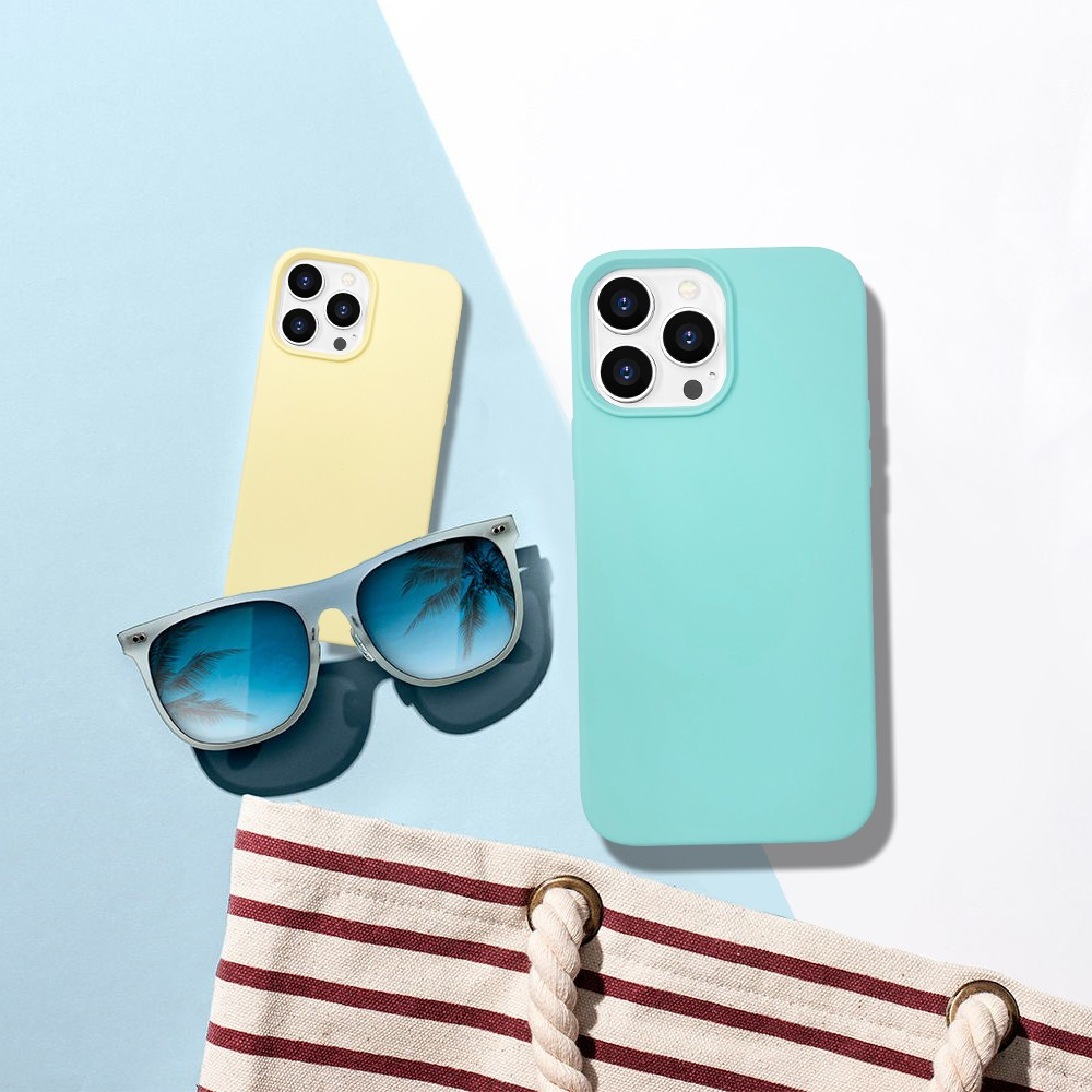 video-new arrival original soft touch iPhone 13 phone case silicone-TenChen Tech-img