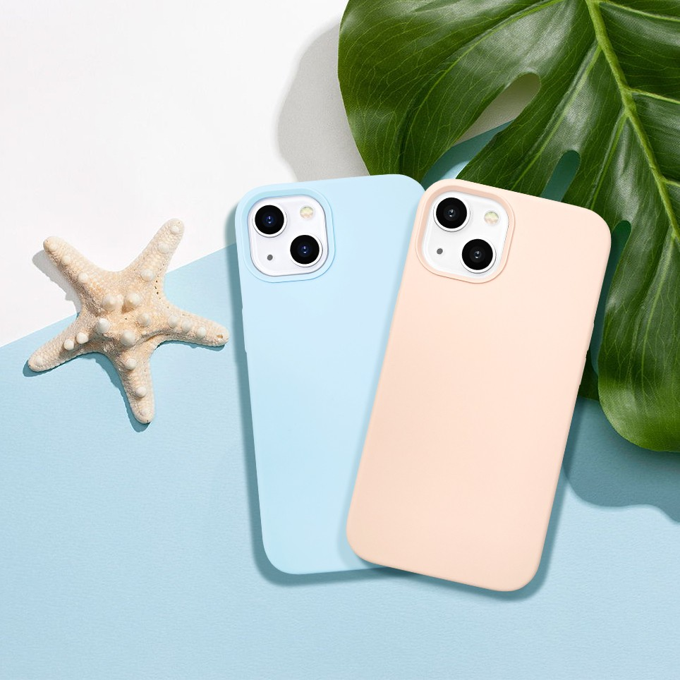 video-new arrival original soft touch iPhone 13 phone case silicone-TenChen Tech-img-4