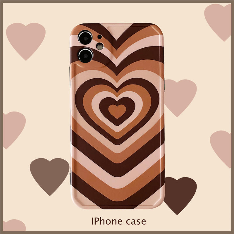 Love Heart Printed Cases for iPhone 12,Painting Art Cute Design Soft TPU Hard Back Ultra-Thin Shockproof Anti-Fall Protective Gilry Cover Case for iPhone 12