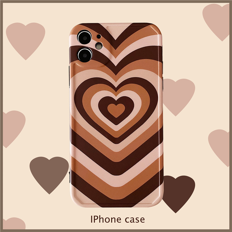 product-Love Heart Printed Cases for iPhone 12,Painting Art Cute Design Soft TPU Hard Back Ultra-Thi