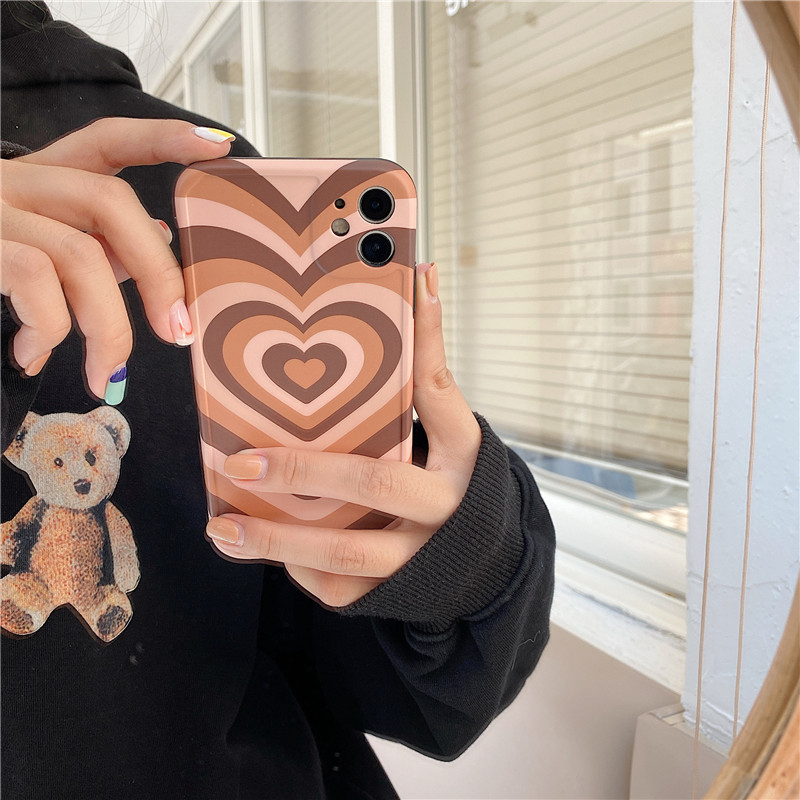 product-TenChen Tech-Love Heart Printed Cases for iPhone 12,Painting Art Cute Design Soft TPU Hard B