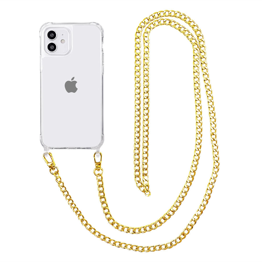 Clear Case for iPhone 12/12 Pro, iPhone 12 12 Pro Case with Crossbody Strap Adjustable Neck Lanyard Shockproof Protective Case for iPhone 12/12 Pro 6.1 inches -Tenchen Tech