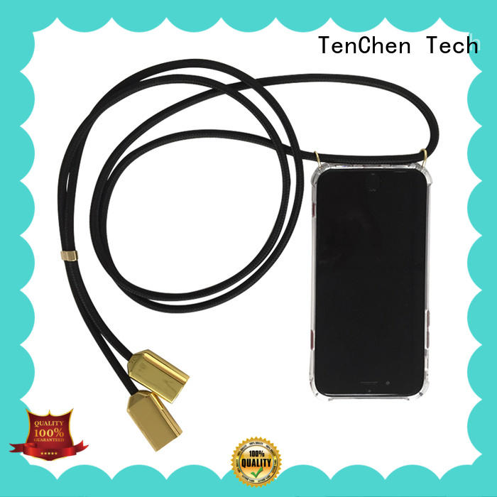 Pattern protected,USB charging cable style necklace strap mobile phone case